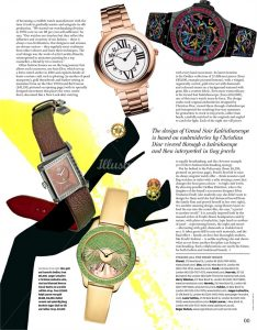 IN TIMELY FASHION -'How to Spend It' Magazine / Financial Times