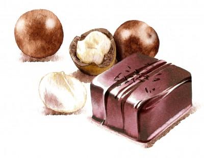 Langesten....Macadema nuts +Praline