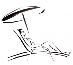 SUN LOUNGER Icon for luxury resort in Dubai