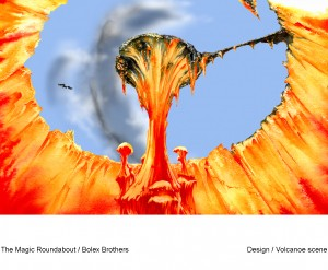 MAGIC ROUNDABOUT -VOLCANO SCENE