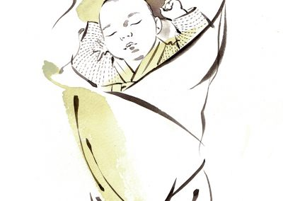 Formal HANBOK newborn swaddling