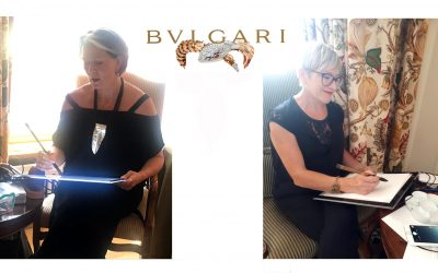 Bulgari Celebrates with Live Event Drawing Duo