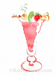 Fruit smoothie created for Harrods menu to be used in their luxury milkbar