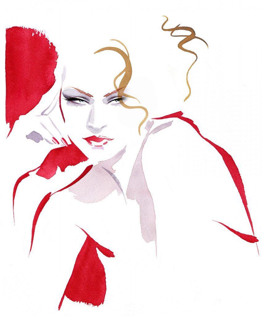 Illustration Beauty AllForEve Packaging Cosmetics Retro Makeup