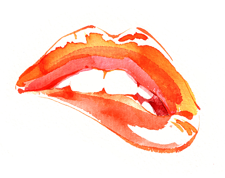 Illustration Beauty Mac Cosmetics Lips Lipstick Cometics Glamour