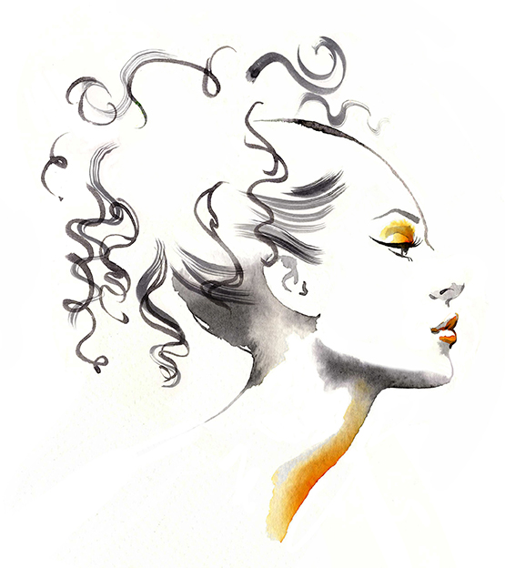Illustration Beauty VogueJapan Vogue Magazine Article Massage
