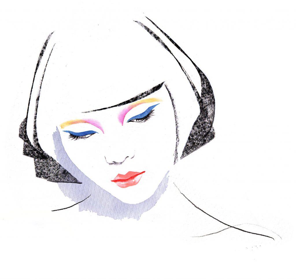 Illustration Beauty Asian Cosmetics Ethnic Mixedmedia