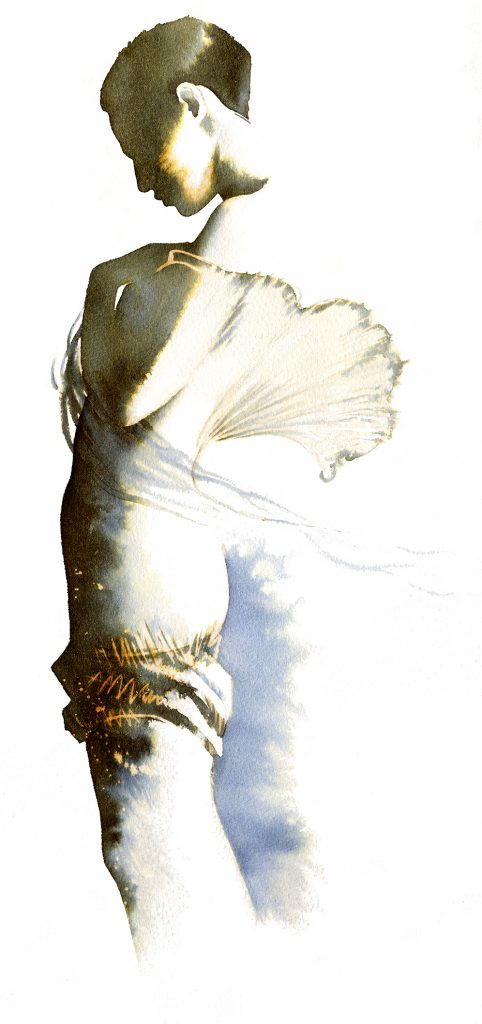 Illustration Fashion&Beauty Ethereal Moments Ink Bleach Silhouette Fantasy