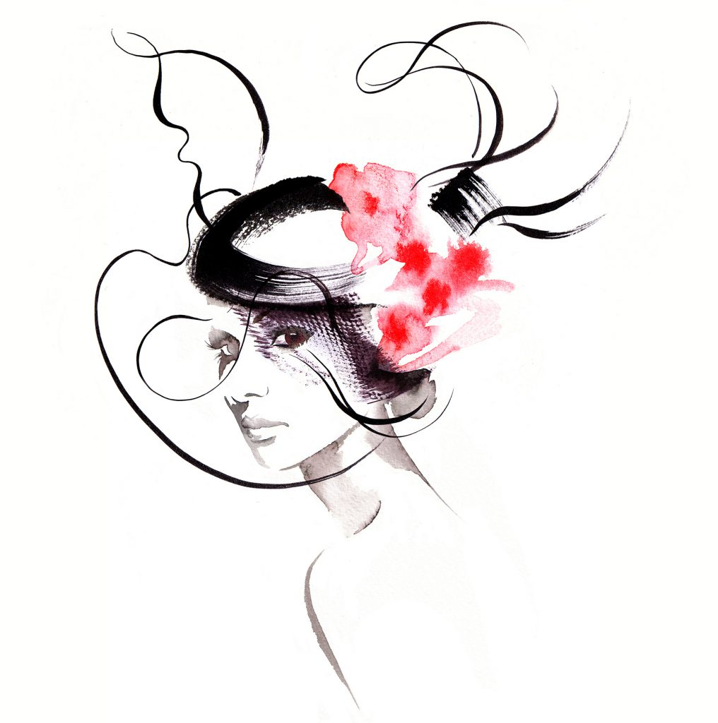 Illustration Fashion&Beauty Millinary Couture Ink Watercolour Retro Glamour