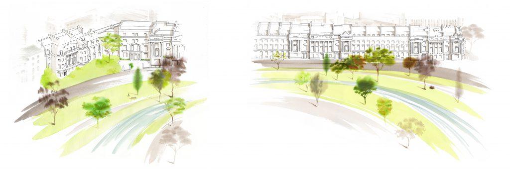 Illustration Architecture London Architect Architects Presentation Visual Crescent