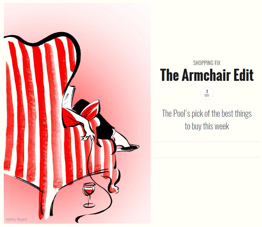 Illustration Figurative Armchair Edit Online Shopping Style Of Rene Gruau