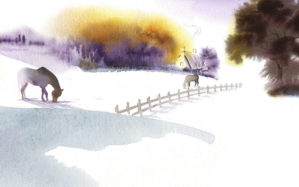 Illustration Scenic Hodder And Stoughton Book Cover Publishing Winter Snow Countryside