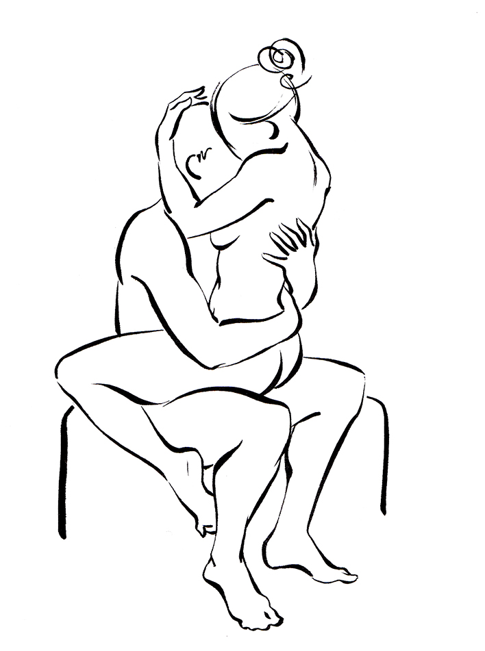 Illustration Line 101 Sexual Positions Laptop Howto Brush Ink