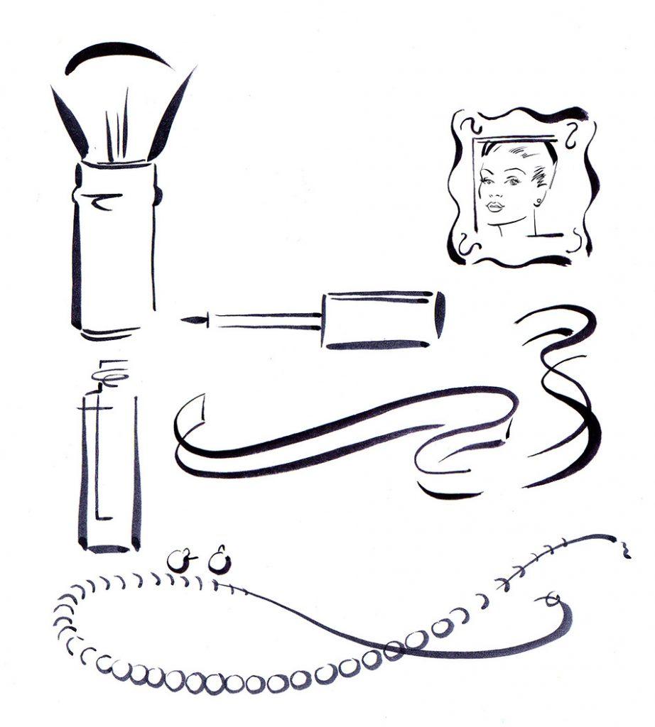 Illustration Line Sonia Kashuk Cosmetics Icons Brush And Ink