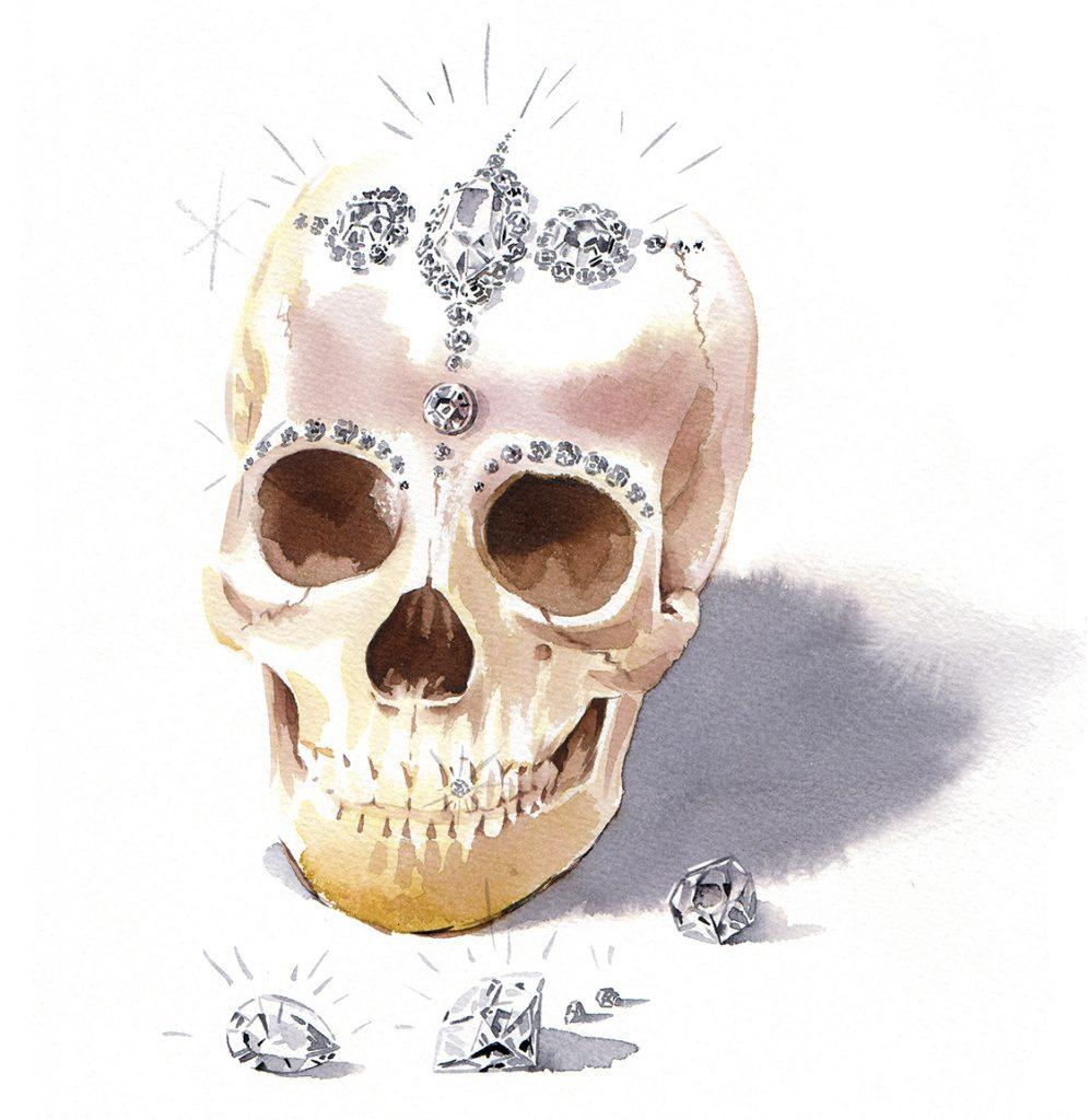 Illustration Conceptual GQ Magazine Avarice Seven Deadly Sins Watercolour