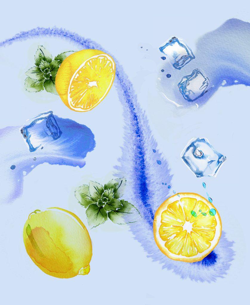 Illustration Food Drink Sainsburys Supermarket Ice Lemon Tea Cold Brew Packaging