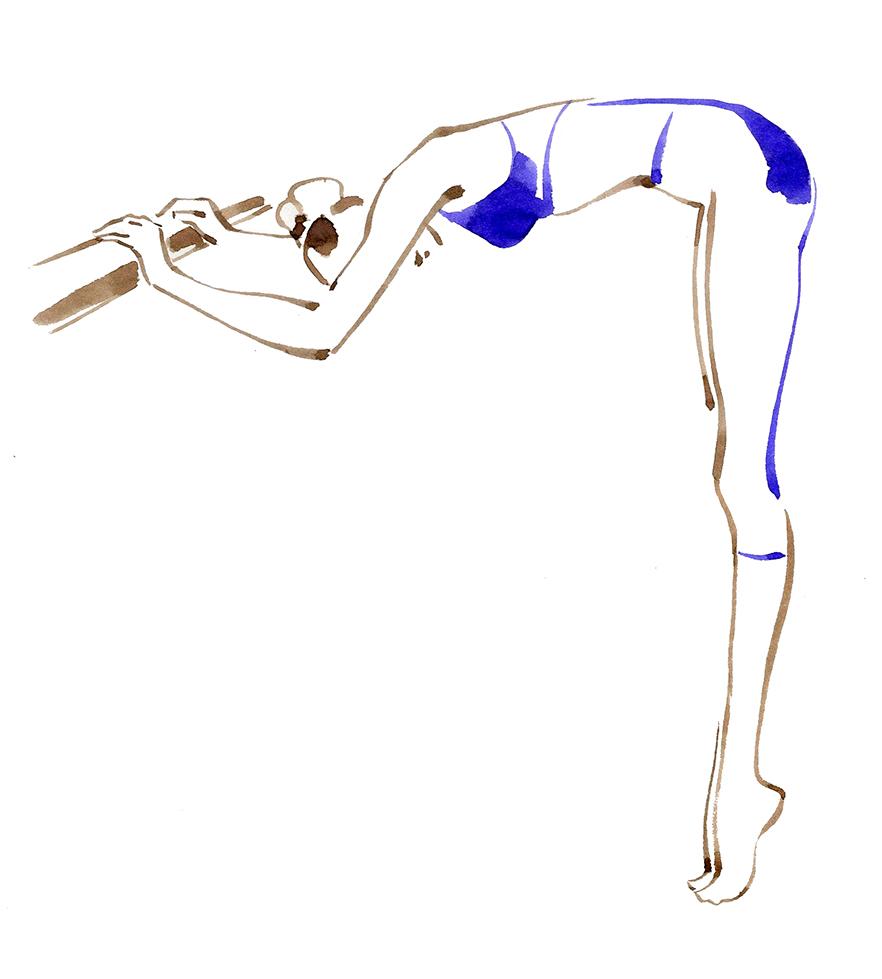Illustration Publishing Vogue Japan Excercise Regimen Calves