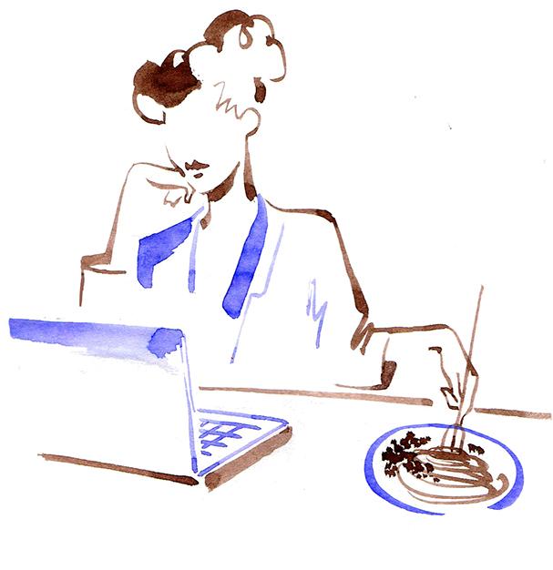 Illustration Publishing Vogue Japan Excercise Regimen Diet