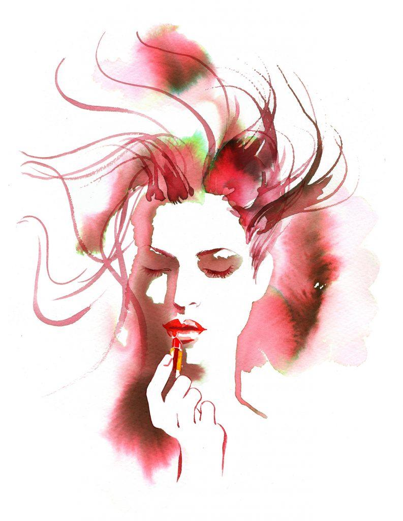 Illustration Beauty BootsThe Chemist MindfulBeauty Health&beauty Magazine Watercolour