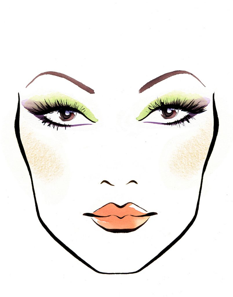 Illustration Beauty Max Factor Template Cosmetic Looks