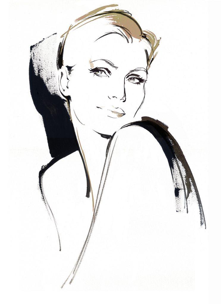 Illustration Beauty Oil Of Olay TV Advertisment Brush Ink