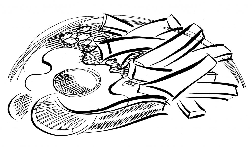 Illustration Line BUPA Health Bad Diet Educational Information