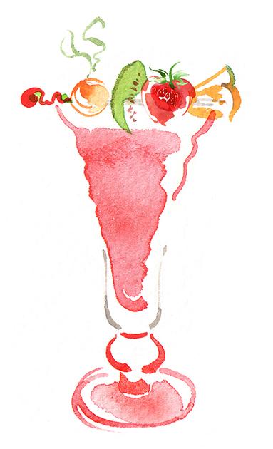 Illustration Food Drink Harrods Food Fruit Bar Menu Hall Smoothie