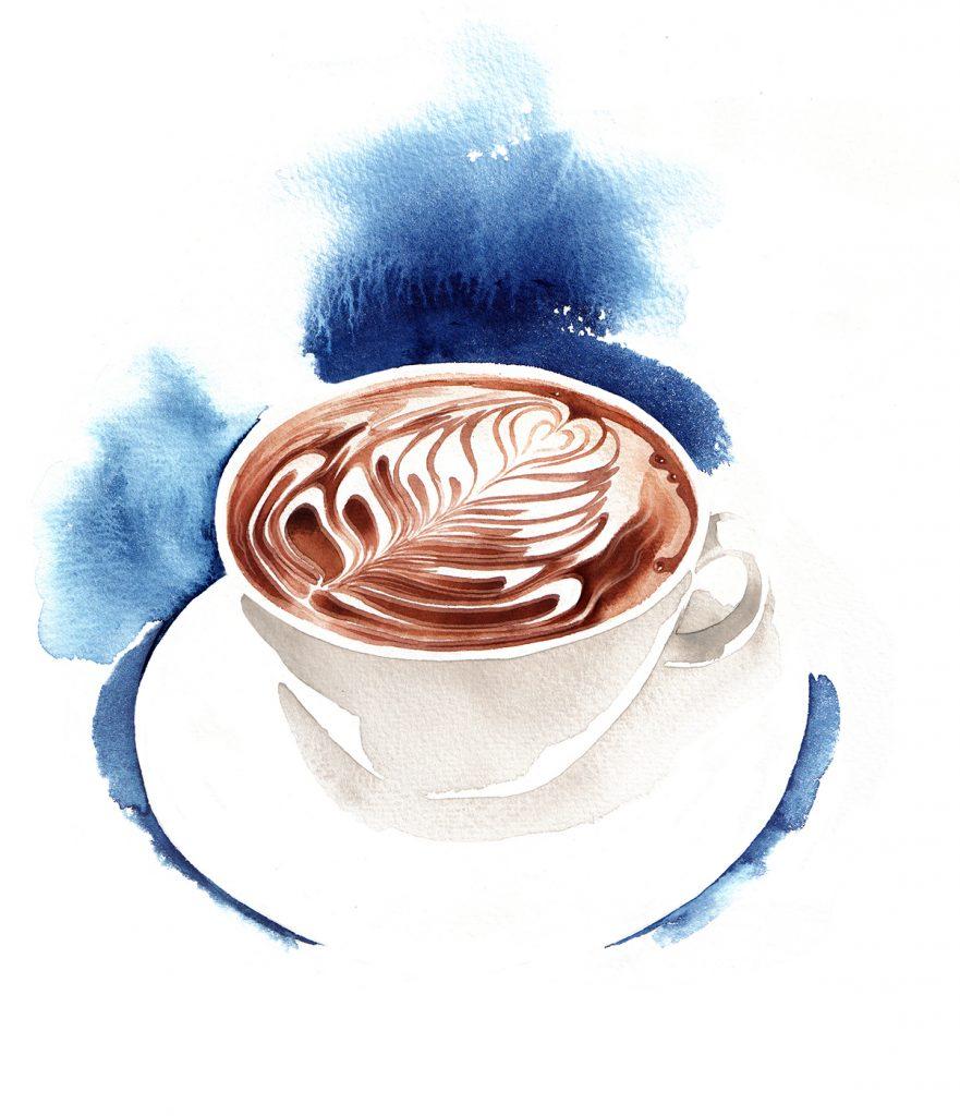 Illustration Food Drink Harrods Food Hall Coffee Latte