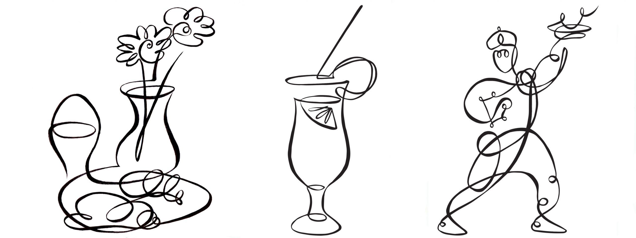 Illustration Line Chutney Mary Curry House Menu Icons