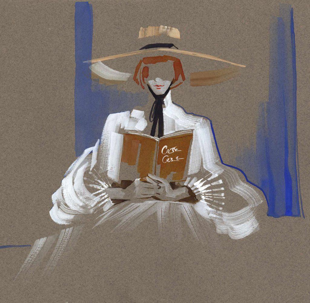 Illustration Live Drawing Cabaret Couture Alejandra Herrera Design Edwina Ibbotson Millinery