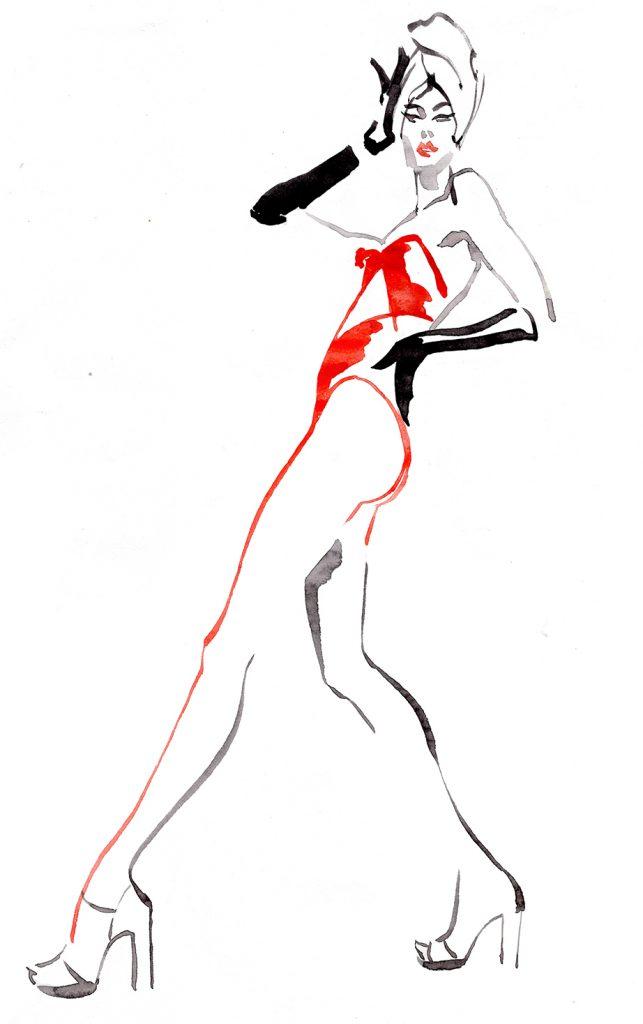 Illustration Live Event Drawing Ami Benton Fabulous Fifties  Copy