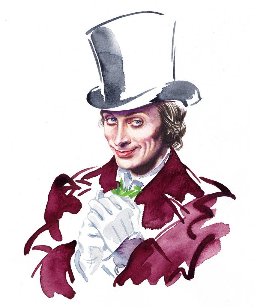 Illustration Portraits BBC Theatre Charles Dickens Steerforth