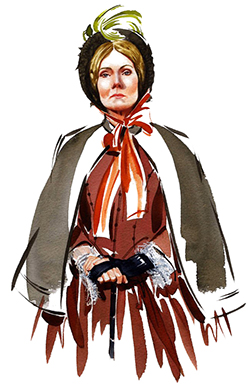 Illustration Portraits BBC Theatre Play Miss Betsy Character