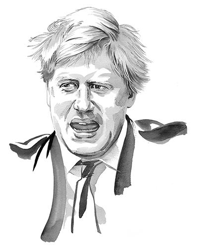 Illustration Portraits Boris Johnson The Independent Newspaper
