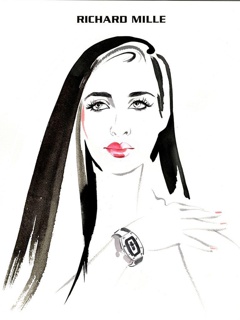 Illustration Portraits Richard Mille Live Event Drawing