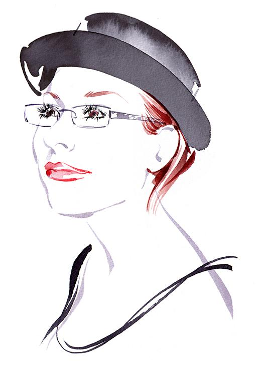 Illustration Portraits Sanja Portrait Business Promotion Watercolour Editorial