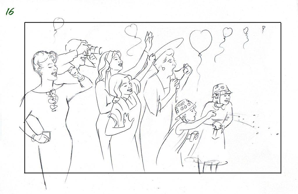 Illustration Story Board Boarding Muller Shooting Board Wedding 16