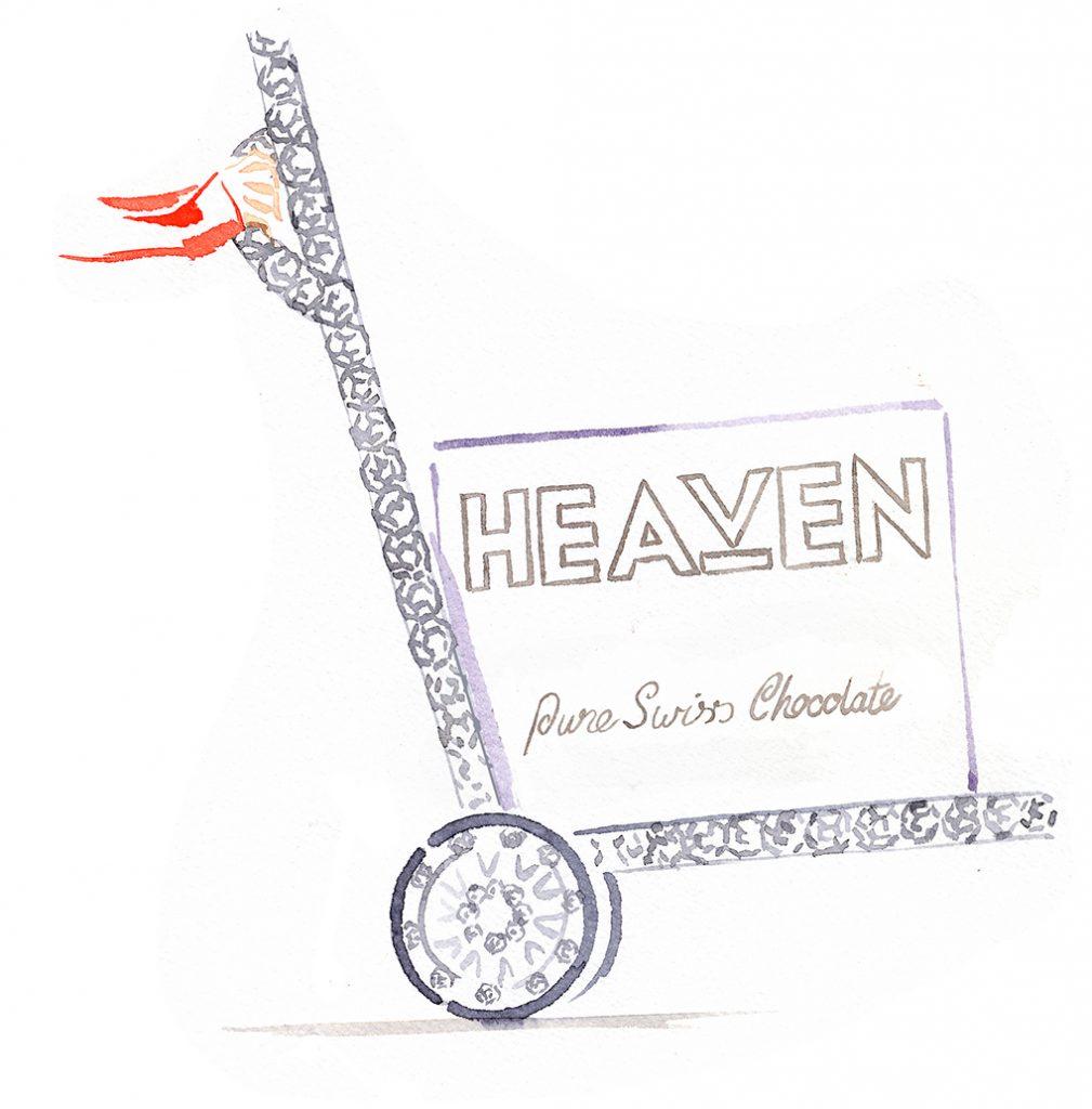 Illustration Storyboard Heaven Chocolate Visualisation Advertising Diamente