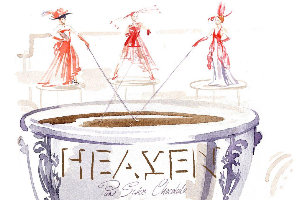 Illustration Storyboard Heaven Chocolate Visualisation Advertising Drink