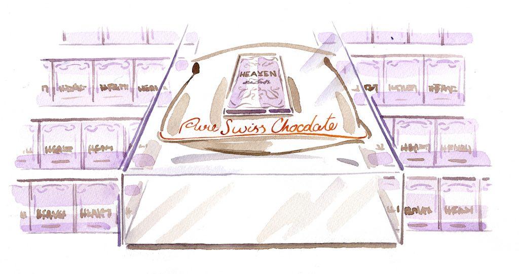 Illustration Storyboard Heaven Chocolate Visualisation Advertising Product