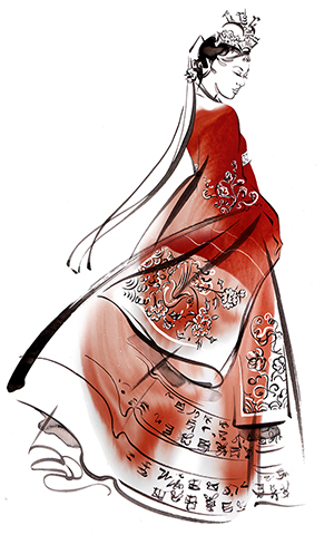 ILLUSTRATION Fashion The Beauty Of Hanbok Traditional Bridal Ceremony Gown