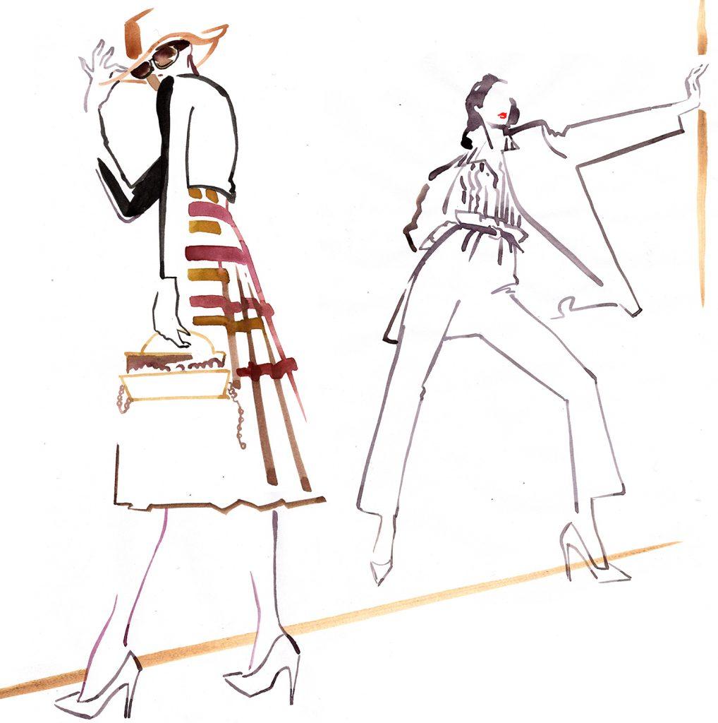Illustration Live Event Drawing Ami Benton 80's Theme Portrait