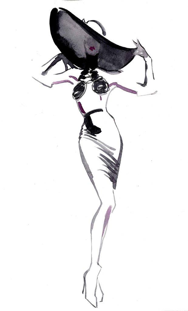 Illustration Live Event Drawing Ami Benton C;assic Looks