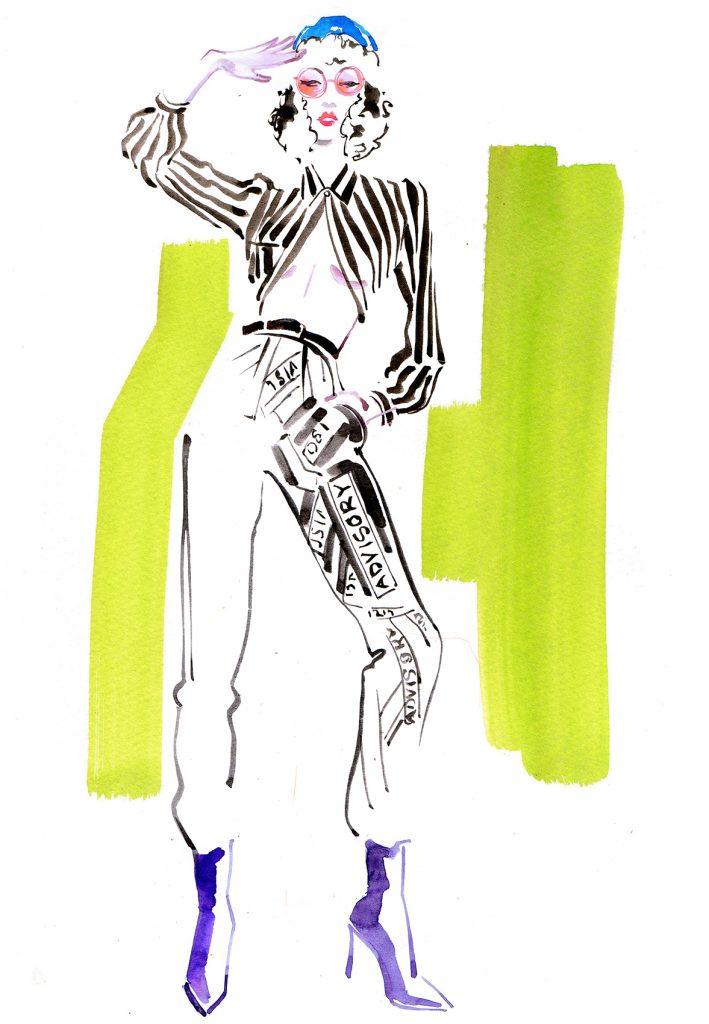 Illustration Live Event Drawing Ami Benton Eighties