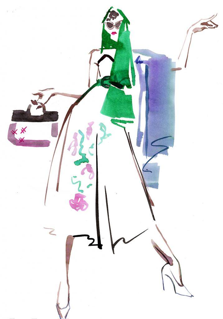 Illustration Live Event Drawing Ami Benton Fabulous Fifties 2