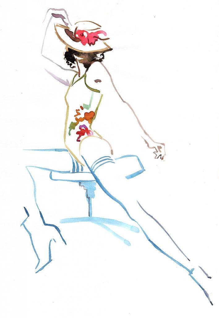 Illustration Live Event Drawing Ami Benton Floral Theme2