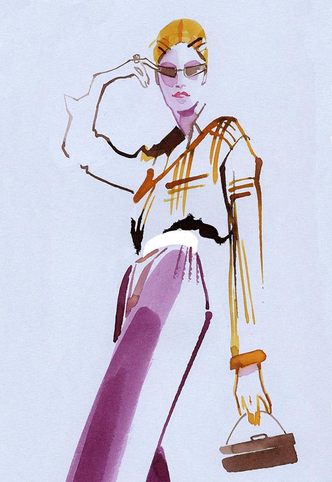 Illustration Live Event Drawing Ami Benton High Fashion Theme 2