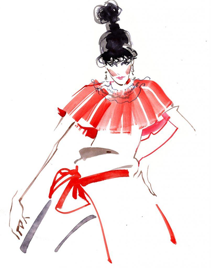 Illustration Live Event Drawing Ami Benton High Fashion Theme 4