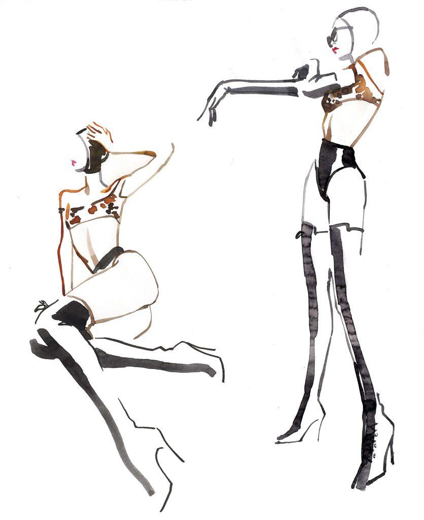 Illustration Live Event Drawing Ami Benton Leather Theme