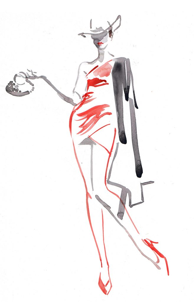 Illustration Live Event Drawing Ami Benton Sassy Cowgirl